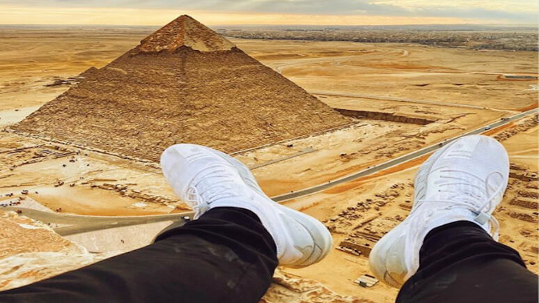 фото на вершине пирамиды
